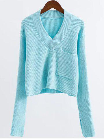Buy V Neck Cropped Sweater