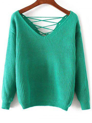 Sale Lace Up Pullover Sweater