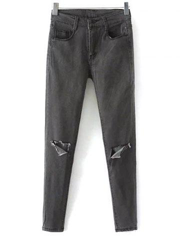 Online Stretchy Ripped Narrow Feet Jeans