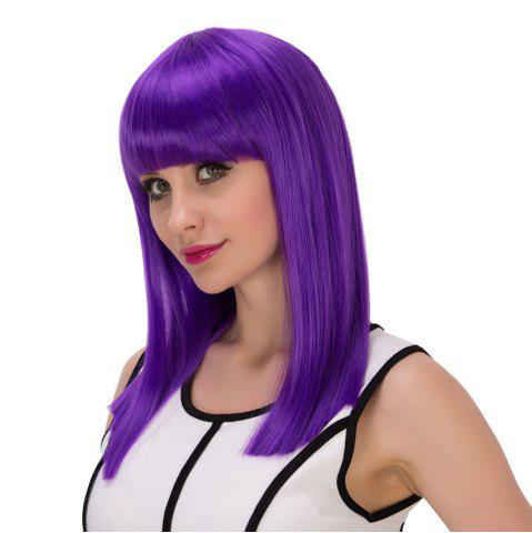 Outfits Long Full Bang Straight Cosplay Synthetic Wig - AMETHYST  Mobile