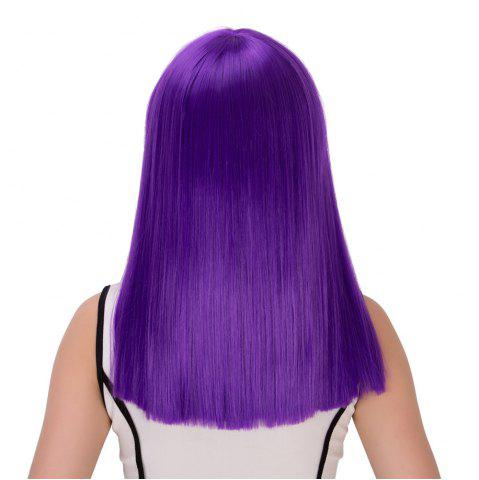 New Long Full Bang Straight Cosplay Synthetic Wig - AMETHYST  Mobile