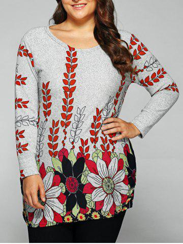 Outfits Casual Round Neck Floral Print T-Shirt