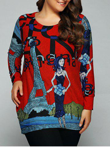 Store Loose-Fitting Character Print T-Shirt RED ONE SIZE