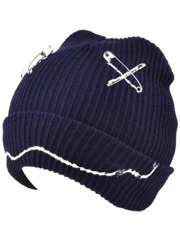 Outfit Warm Paper Clip Smiling Face Flange Knitted Beanie