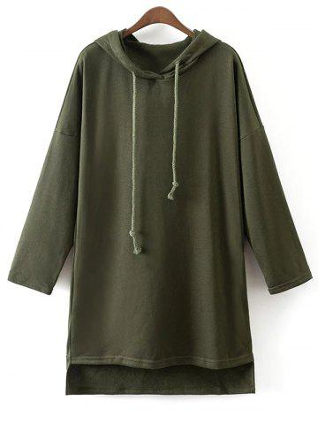 Outfit Drop Shoulder Long Pullover Hoodie