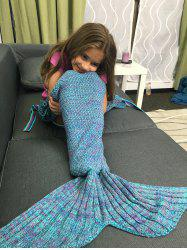 Knitted Flowers Embellished Mermaid Tail Blanket -