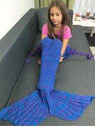 Knitted Flowers Embellished Mermaid Tail Blanket