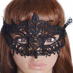 Gothic Style Heart Lace Party Mask - BLACK