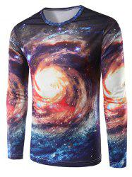 Long Sleeves Universe 3D Print Galaxy T-Shirt