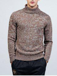 Roll Neck Long Sleeve Knit Blends Sweater