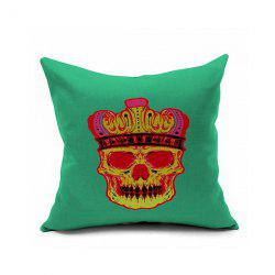 Sofa Cushion Crown Skull Printed Pillow Case -