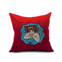 Spider Woman Printed Sofa Cushion Pillow Case -
