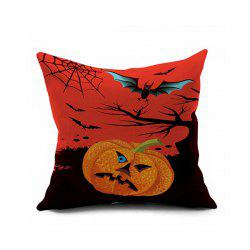 Halloween Pumpkin Bats Printed Sofa Cushion Pillow Case -