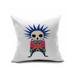 Sofa Cushion Boy Skeleton Printed Pillow Case -