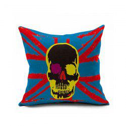 Sofa Cushion Flag Skull Printed Pillow Case -