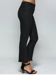 High Waist Skinny Flare Jeans - BLACK