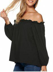 Loose Off the Shoulder Chiffon Blouse -
