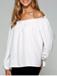 Loose Off the Shoulder Chiffon Blouse