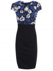 High Waist Floral Print Slimming Dress -