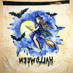 Halloween Watercolour Witch Square Scarf -