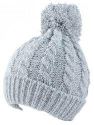 Winter Hemp Flowers Flanging Knit Hat