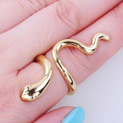 Vintage Polished Snake Ring - GOLDEN
