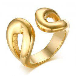 Stainless Steel Cuff Ring - GOLDEN