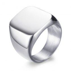 Vintage Stainless Steel Geometric Ring - SILVER