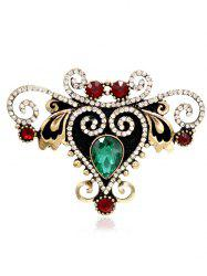Rhinestone Fake Gem Heart Brooch -