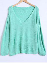 V Neck Loose Casual Sweater -