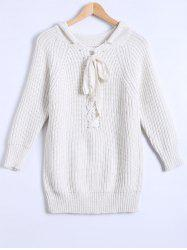 Lace-Up Fitting Sweater -