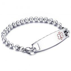 Engraved Medical Logo Beaded ID Bracelet -