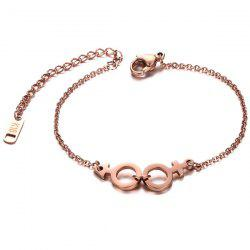 Lover Sign Circle Chain Bracelet
