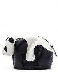 Color Block Panda Shape Zipper Crossbody Bag