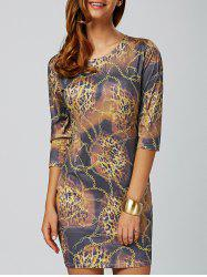 Chain Leopard Print Bodycon Mini Dress - COLORMIX 2XL