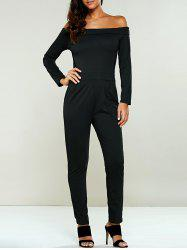 Off The Shoulder Long Sleeve Jumsuit