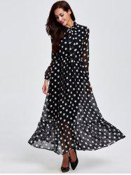 Polka Dot Maxi Dress Cheap Shop Fashion Style With Free Shipping ...