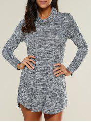 Robe à manches longues Heathered - Gris