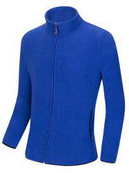 Stand Collar Zip Up Polar Fleece Sweatshirts