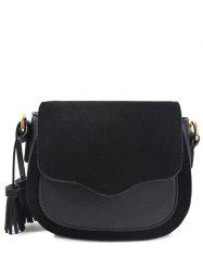 Magnetic Closure Tassels Splicing Crossbody Bag