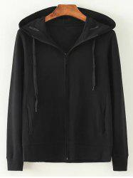 Hooded Zip-Up Loose Jacket