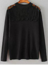 Lace Spliced Loose Sweater
