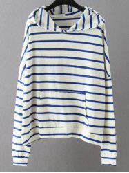 Striped Pockets Sweatshirt - WHITE