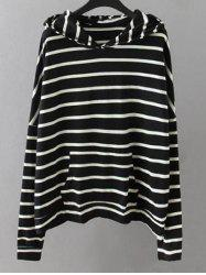 Striped Pockets Sweatshirt - BLACK
