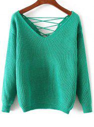 Lace Up Pullover Sweater -