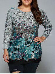 Loose-Fitting Floral Print T-Shirt