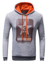 Letter Print Drawstring Pullover Hoodie