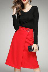 Long Sleeve Tee and Wrap Skirt