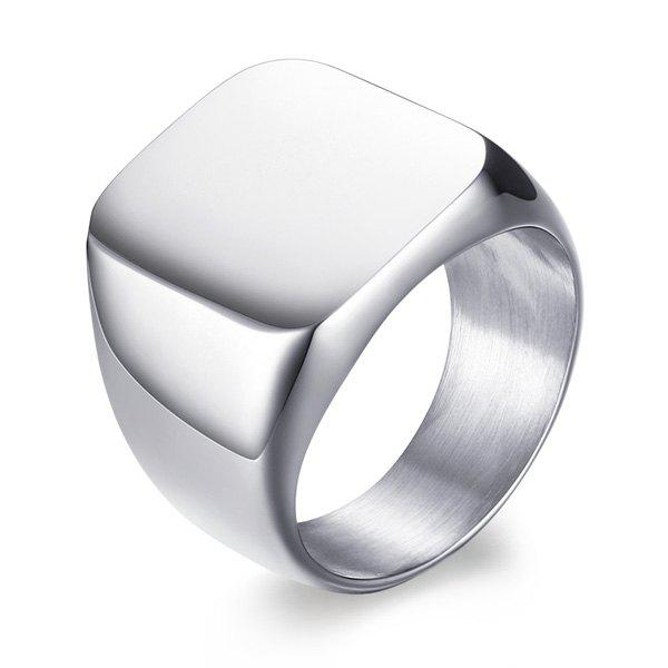 Vintage Stainless Steel Geometric RingJEWELRY<br><br>Size: 10; Color: SILVER; Gender: For Men; Metal Type: Stainless Steel; Style: Trendy; Shape/Pattern: Geometric; Weight: 0.0300kg; Package Contents: 1 x Ring;