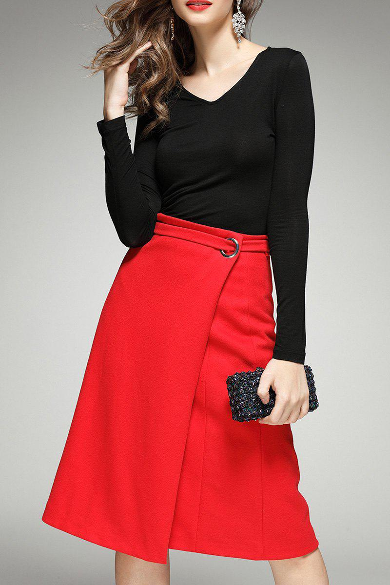 Unique Long Sleeve Tee and Wrap Skirt